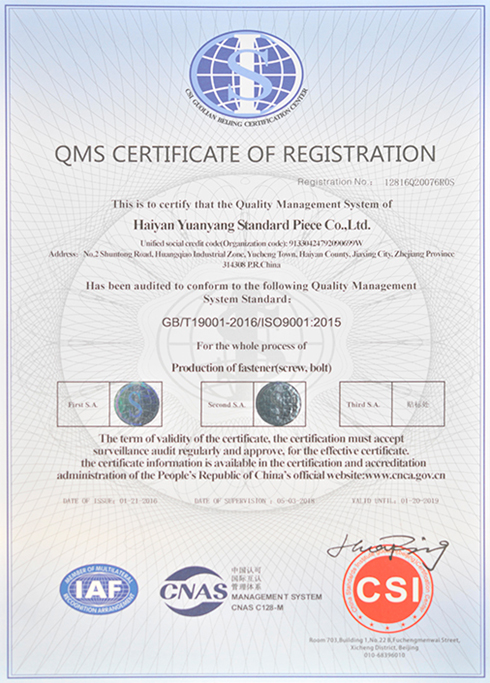 QMS注册证书